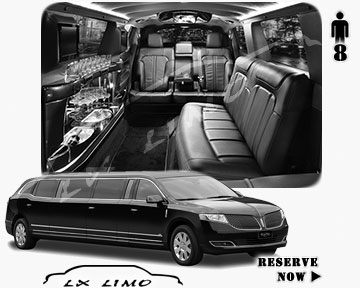 Stretch Wedding Limo for hire in Philadelphia, ON, Canada